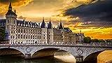 Rompecabezas Para Adultos 1000 Piezas Palacio De La Conciergerie Paris De Madera Montaje Personalizado