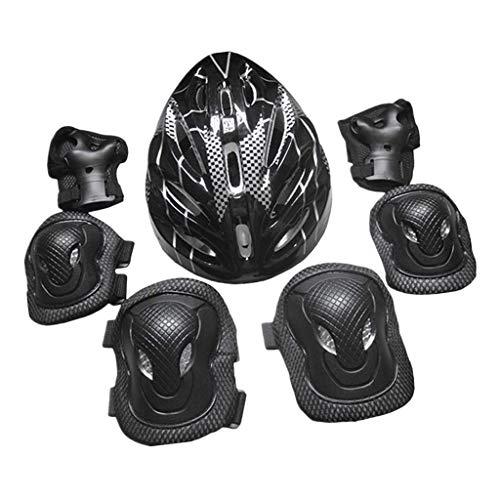 ZWWZ Roller Schutz Kit Erwachsene Knie Ellenbogen Pads Helm Main Schutz fuuml; r Im Freien Erwachsene Skifahren Praxis Vollen Satz 7 stuuml; cke HAIKE