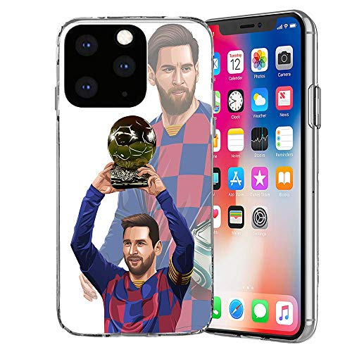 MIM Global Football Futbol Soccer Protectores Case Cover Compatible para Todos iPhone (iPhone 6/6s, Messi d'0r)