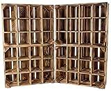 Kontorei 1-12 x Tolles, geflammtes Weinregal aus Holz mit Platz für 12 Flaschen, alternativ auch für Andenken o. Sammlerstücke, neu, 50x23x40cm (1)