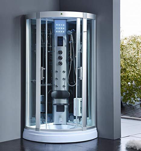 XXL Luxus LED Dampfdusche 95x95x220cm Dusche Duschtempel Komplettdusche Duschkabine+Radio inkl