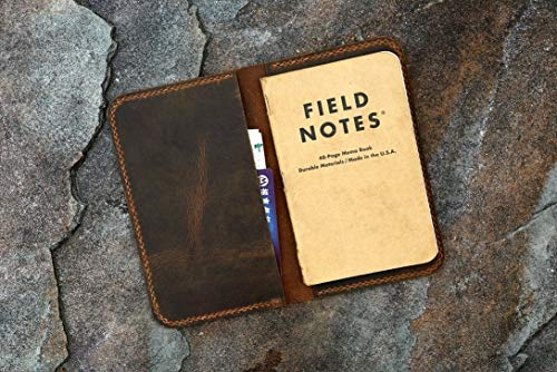 Personalized leather cover for pocket size field notes notebook/slim minimal field notes leather case cover FA605S