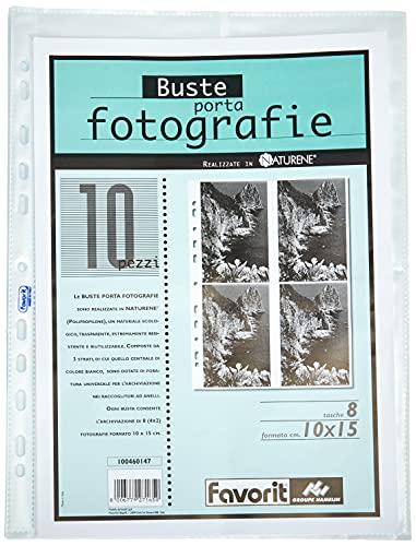 album fotografico 7x10 Favorit Busta Porta Foto 8 Tasche