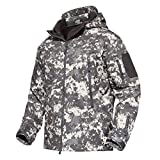 野外 ジャケット 防寒防風 戦闘服 ウオーキング 上着 迷彩柄 スキーウェア 無地 ACU L