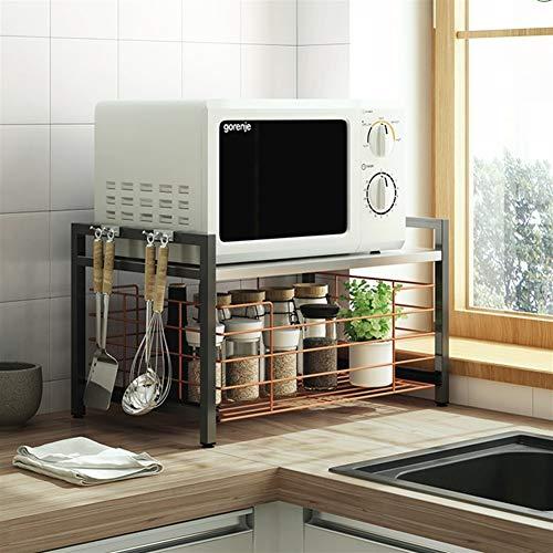 Metálica horno microondas estantes cocina jardín