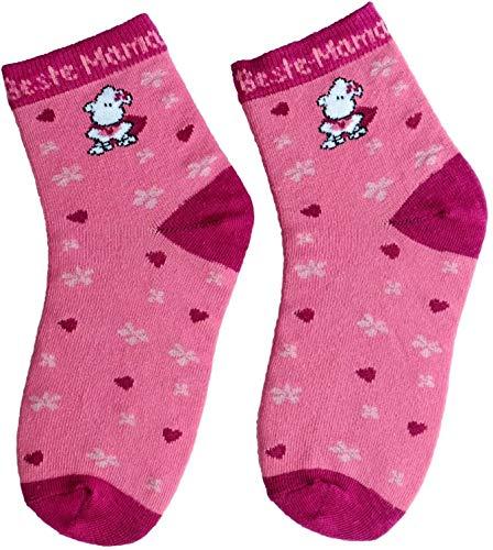 Die Geschenkewelt Sheepworld 45604 Zauber-Socken beste Mama Geschenk-Artikel, 80prozent Baumwolle, 15prozent Nylon, 5prozent Elastan, Rosa, Größe 36-40