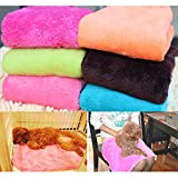Cute Soft Warm Pet Quilt Dog Cat Fleece Blanket , Random Color