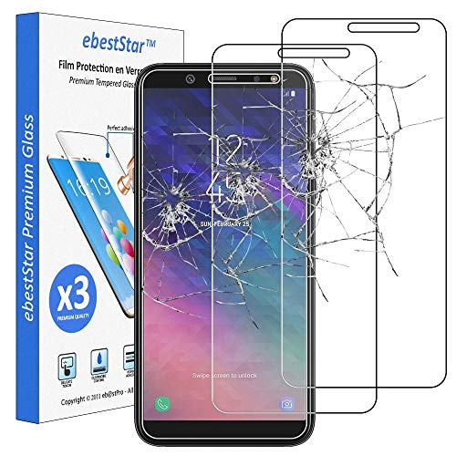"ebestStar - [Lote x3 Cristal Templado Compatible con Samsung A6 Galaxy 2018 SM-A600F Protector de Pantalla, Película Vidrio Dureza 9H, Sin-Burbujas [Aparato:149.9x70.8x7.7mm 5.6""]"