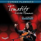 Savarez Cuerdas para Guitarra Clásica Flamenco juego T50J Tensión alta, azul