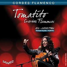Cuerdas para guitarra Flamenco T50J. Tensión alta Material: Agudos en nylon y graves plateados