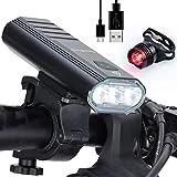 Gpzj Bike Light Set USB Rechargeable 3000 Lumens, Bicycle Cycling Headlight Cree XML-T6