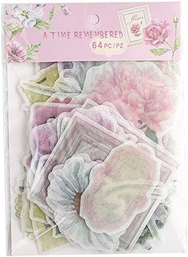 64 stuks vintage patroon notitieboek stickers fotoalbum sticker DIY handboek dagboek decoratie sticker style 1
