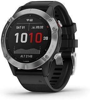 Garmin Fenix 6 Smartwatch, Silver with Black Band,Silver w/Black Band