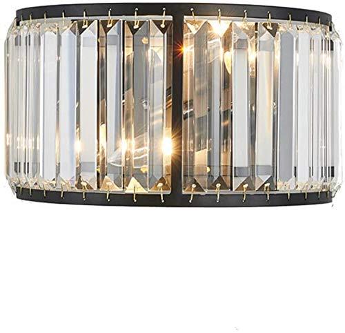Moderne kristallen wandlamp nachtkastje kleur zwart Art Deco verlichting van de metalen strip Loft binnenverlichting gang woonkamer eetkamer