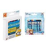 SRV Hub® 48 lápices de colores congelados y esbirros, colores de cera, duraderos y duraderos, no tóxicos y seguros para niños de más de 3 años (congelados + esbirros)