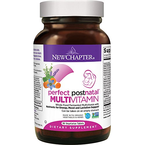 New Chapter Postnatal Vitamins, Lactation Supplement With Fermented Probiotics + Wholefoods + Vitamin D3 + B Vitamins + Organic Non-gmo Ingredients - 96 Ct