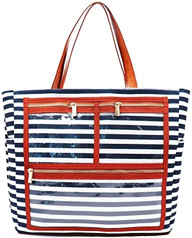 Striped Canvas Display Bag Handbag Purse Essential Oils Carrying Bag Reps Business Bag With product image