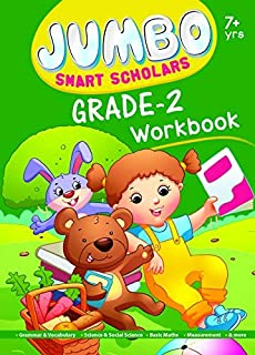 Jumbo Smart Scholars- Grade 2 Workbook Activity Book (320 full colour Pages) Grammar, Vocabulary, Science and more… by Om ...