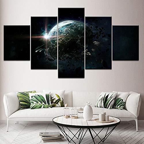 wjdymx Canvas Prints Abstract Aarde muur Canvas Kunst Afbeeldingen voor interieurs Moderne foto's van abstracte poster platform kunstwerken