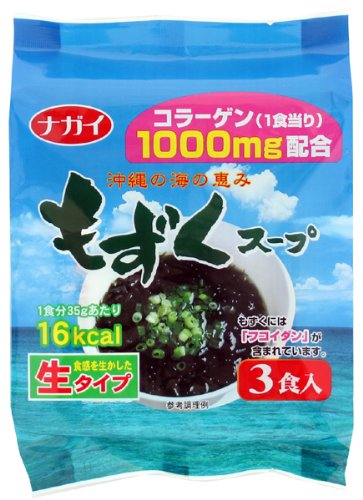 もずくスープ (コラーゲン配合) 35g×3食×10袋