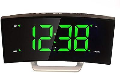 Reloj electrónico Pantalla Digital Grande Reloj Despertador electrónico Reloj noctiluciente Plug-in Reloj electrónico (