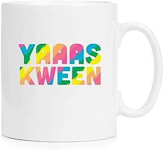YAAS KWEEN - Full Color 12 oz Ceramic Mug - Dishwasher Safe Sublimation Printing Perfect For Coffee, Tea & Hot Chocolate