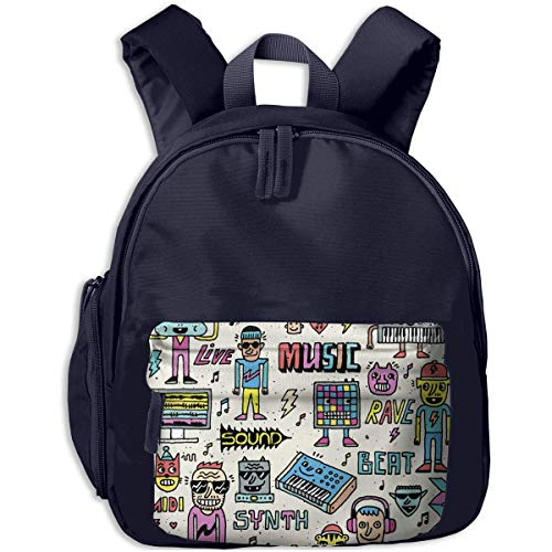 XCNGG Lightweight Kids Kindergarten Backpack Funny Electronic Style Printed Bags for Child