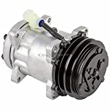 AC Compressor & 2 Groove A/C Clutch For Land Rover Defender NAS & Range Rover Classic Replaces Sanden SD709 7715 - BuyAutoParts 60-01550NA NEW