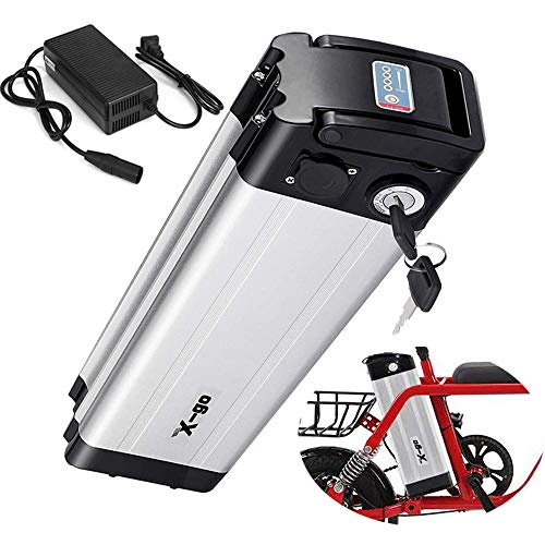 X-go Bateria Bicicleta Electrica BateríA Bicicleta EléCtrica 36V 10AH Adecuado para Motor De 350W ,Cargador(Tablero de Protección de BMS)