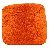 Pigeon Fleet 1 Madeja Hilo Acrílico Suave DIY Artesanía Hilo de Tejer Bolso Hecho a Mano Crochet Scarf Blanket Yarn, Orange