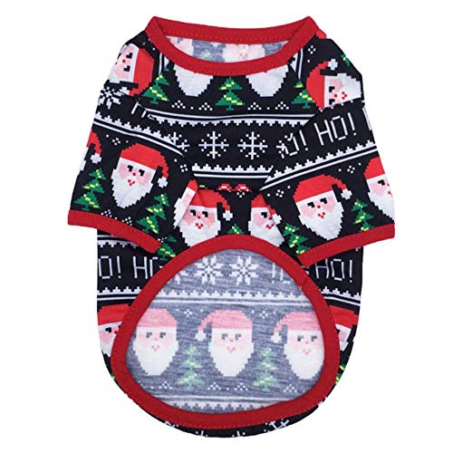 RFDFG Christmas Dog Clothes New Year Pets Dogs Clothing For Small Medium Dogs Costume Chihuahua Pet Shirt Warm Dog Clothing#np30