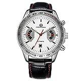 Excellent Relojes para Hombre Moda Impermeable Deportes de Acero Inoxidable Esfera de Pulsera de Pulsera de Pulsera,A03