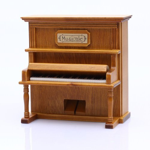 Laxxury Hleeduo Spieluhr® Vintage Piano Wind up Holz Music Box Spielen The Castle in The Sky