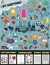I Spy Everything! for Kids Ages 2-5: ( Puzzle Book for Kids ) Alphabet A-Z Coloring Book & Mazes & Word Search