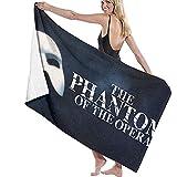 Mathillda The Phantom of The Opera DIY Tela de impresión Toalla de Playa de Viaje Toalla de baño Poliéster de Secado rápido Blanco