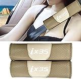 L1L1L1 2 unids coche cinturón acolchado para Hyundai Ix35, hombro correa cubierta suave comodidad styling protector accesorios (A)