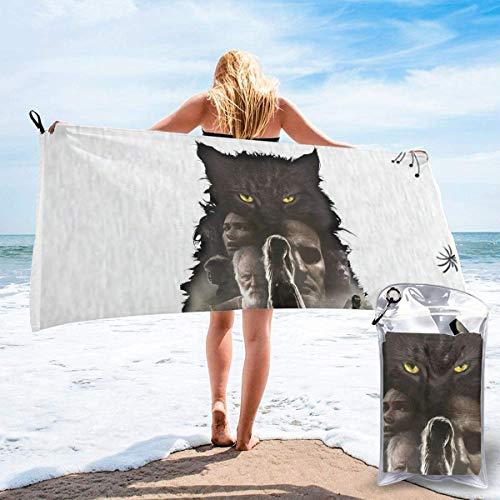 Yuanmeiju Pe t Se ma tary 1989 Unisex Camping Hogar Toalla de secado rápido Toallas de yoga Toallas de playa Toallas de gran tamaño negro
