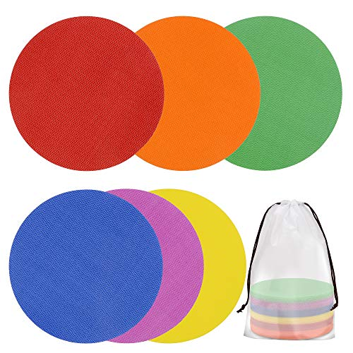 NEKE 30 Pack 5 Inch Spot Carpet Markers, Teachers Supplies for Classroom, Hook and Loop Carpet Markers, Sitting Circle Spot Dots, Kindergarten, Classroom Seating