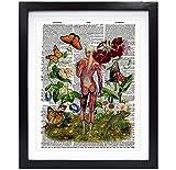 Susie Arts V187 Kunstdruck, Skelett Muskel Frau mit