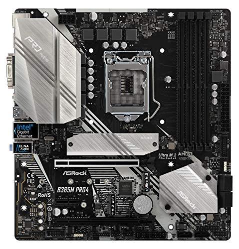 ASRock B365M PRO4 LGA1151/ Intel B365/ DDR4/ Quad Crossfirex/ Sata3&Usb3.1/ m.2/ A&Gbe/microATX Motherboard