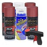 Plasti Dip Rim Kit: 4 Aerosol Cans Luxury Volcano Red, 2 Aerosol Cans Glossifier, 1 Cangun