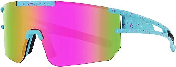 Gepolariseerde Anti UV Fietsen Zonnebril voor Mannen Vrouwen Winddicht Real Film Kleurrijke Lenzen Outdoor Sport Bril