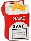 alles-meine.de GmbH XL Spardose -  Zigarettenschachtel - zum Nichtrauchen & Rauchen abgewöhnen  - stabile Sparbüchse aus Porzellan / Keramik - Nichtraucher / Nichtraucherin - Z..
