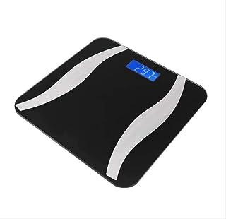 DGHJK Básculas electrónicas portátiles, Báscula Inteligente Báscula electrónica Digital Bluetooth Báscula Pantalla LCD Digital Báscula de baño Sanitaria, Negro
