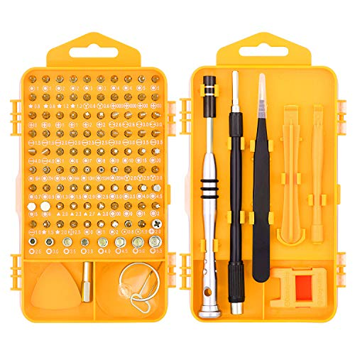 HORUSDY 110 in 1 Precision Screwdriver Set with Phillips, More& Torx Bits, Non-Slip Magnetic Electronics Tool Kit