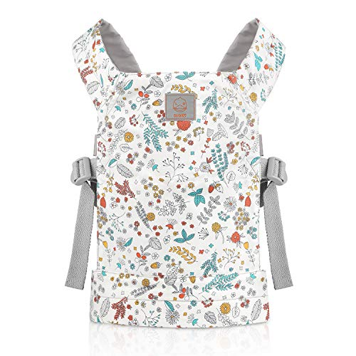 GAGAKU Dolls Carrier Front and Back Soft Cotton for Baby Girls Over 18 Months Flower Pattern