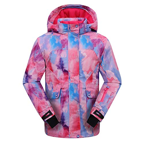 PHIBEE Girls' Waterproof Windproof Outdoor Warm Snowboard Ski Jacket Multi 8