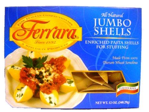 Ferrara Pasta, Jumbo Shells, 12 Ounce (Pack of 12)