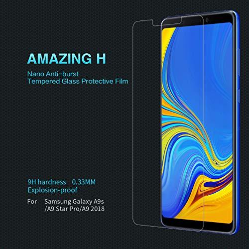 Nillkin Amazing H - Displayschutzfolie 9H aus Resistentem Gehärtetem Glas 0,3mm Kompatibel mit Samsung Galaxy A9s (A9 Star Pro) (A9 2018) - Transparent