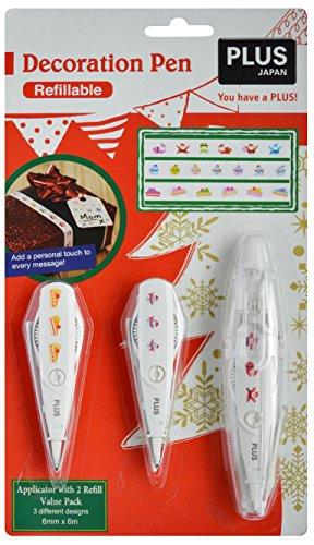 PLUS Japan decoratiestift Kerstmis voordeelset B 3-delig verschillende patronen